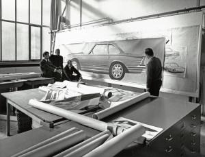 Designstudio. V.l.n.r.: Ferdinand Hellhage, Thomas Hilpert, Josef Gallitzendörfer. Thema: Luftführung zur Sauberhaltung der Rückleuchten.